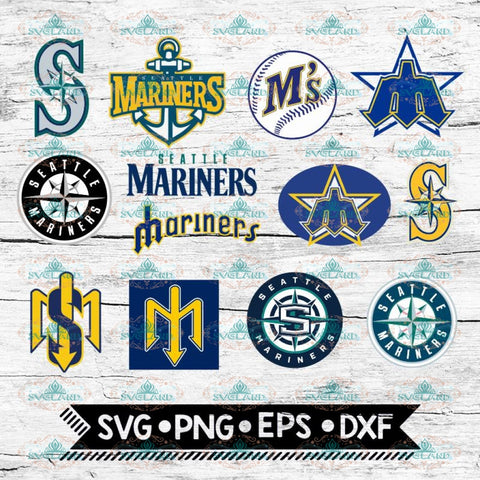 Seattle Mariners Giants Logos, SVG, png, dxf, eps, ai, Clipart, MLB