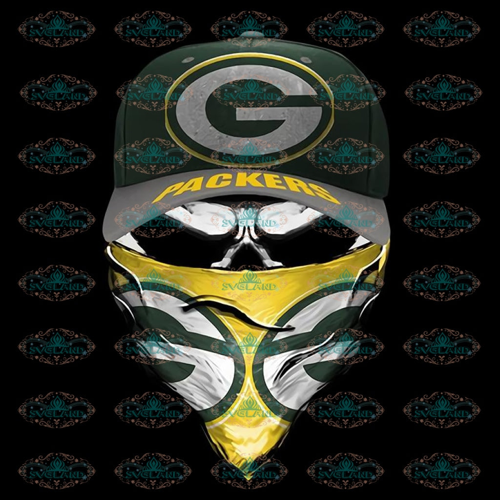 Skull Hat Packers PNG, Green Bay Packers Png, Printable PNG 300 DPI, NFL Png, Sport, Png, Football Png, Packers Png