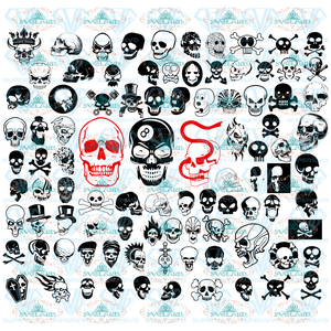 Skull Svg Bundle Logo Decal File Digital