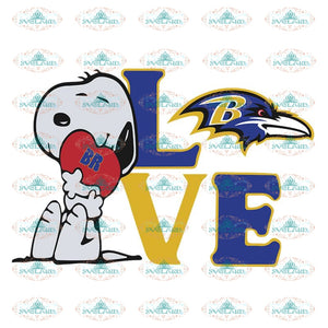 Snoopy Love Baltimore Ravens Svg, Baltimore Ravens Svg, Snoopy Ravens Svg, NFL Svg, Sport Svg, Football Svg, Cricut File, Clipart