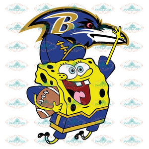 SpongeBob Baltimore Ravens Svg, NFL Svg, Sport Svg, Football Svg, Cricut File, Clipart, Love Football Svg, Cartoon Svg, Png, Eps, Dxf