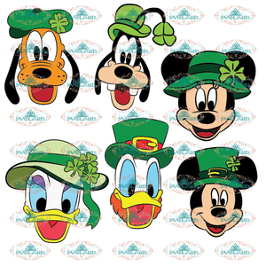 St. Patricks Day Mickey And Friends Hat Bundle Cutting File Bundle File Disney Svg Svg Digital