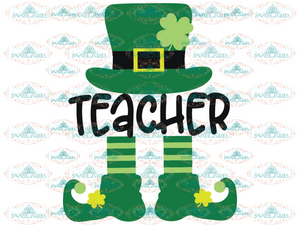 St Patricks Day Svg Teacher Leprechaun School Svg Clover Digital