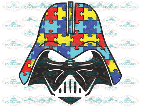 Star Wars Darth Vader Disney Autism Awareness Svg Svg Digital