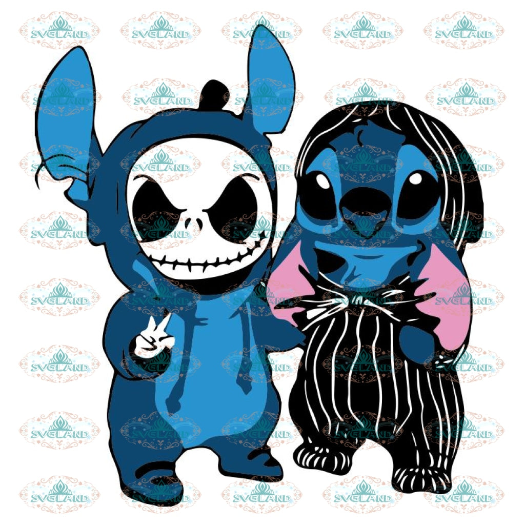 Stitch and Jack Skellington We Are Best Friends Svg, Cricut File, Cartoon Svg, Halloween Svg, Cricut, Clipart