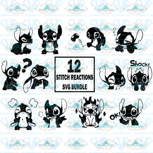 Stitch Disney Svg Lilo And File Sticker Silhouette Clipart Bundle For Cricut Valentine Digital