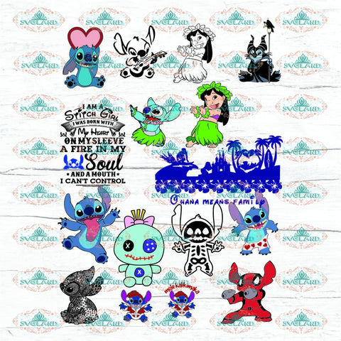 Stitch Svg And Lilo Disney Character Stitch Logo Christmas Sticker Bundle Digital