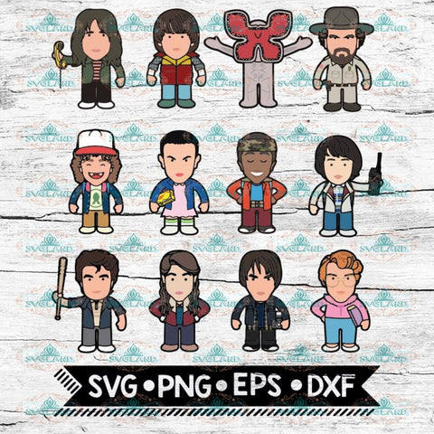 Stranger Things Svg, Charactor Svg, Stranger Svg, Cricut File, Svg