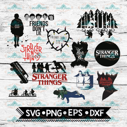 Stranger Things Svg, Friends don't lie, Stranger Svg, Cricut File, Bundle, Svg