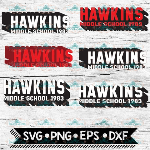 Stranger Things Svg, Hawkins Middle School 1983, Stranger Svg, Cricut File, Bundle, Svg