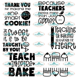 Teacher Thank You Oven Mitt Designs Svg School Svg Gift For Bundle File Digital