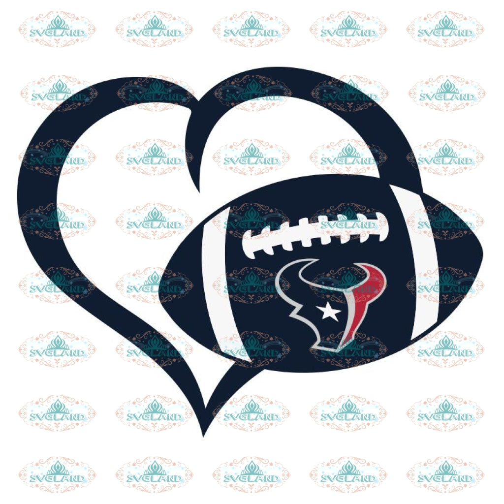 Texans Love Svg, NFL Svg, Cricut File, Clipart, Houton texans Svg, Football Svg, Sport Svg, Love Football Svg, Png, Eps, Dxf