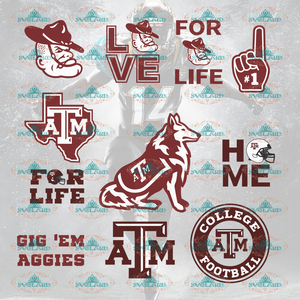 Texas Am Aggies Texas Am Aggies Svg College Football Bundle File Nfl Ncaa Digital