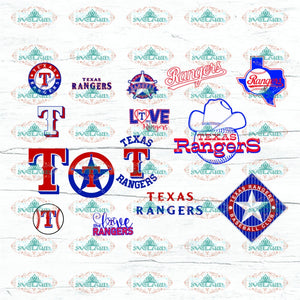 Texas Danger Bundle File Baseball Mlb Svg Png Eps Dxf Digital