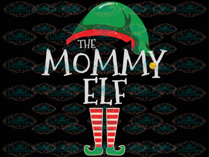 The Mommy Elf Mothers Day Mother Gift Gnomies Santa Hat Winter Christmas Outfit Ornament Png Digital