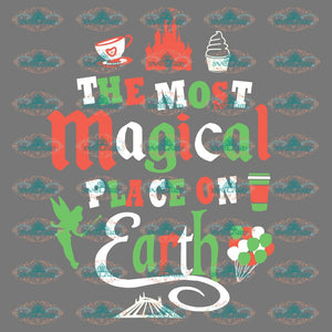 The Most Magical Place On Earth Coffee Mug Ice Cream Disney Winter Christmas Gift Outfit Png Digital