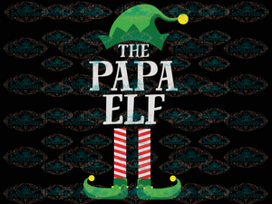 The Papa Elf Fathers Day Father Gift Daddy Gnomies Santa Hat Winter Christmas Outfit Ornament Png