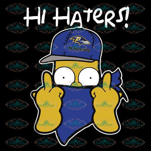 The Simpsons Christmas Gangster Hi Hater Baltimore Ravens Svg, NFL Svg, Sport Svg, Football Svg, Cricut File, Clipart