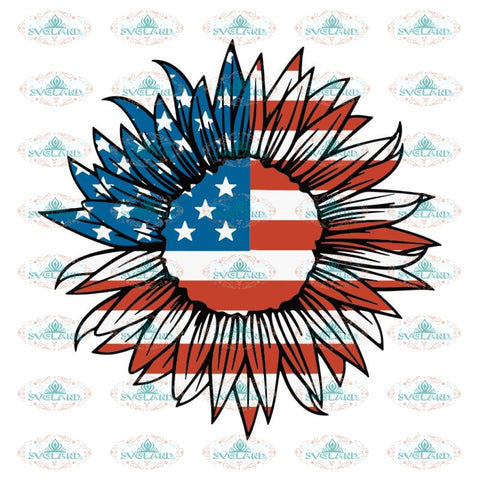 the Sunflower svg, american flag sunflower, american flag sunflower svg, sunflower flag svg, american flag svg, military svg, 4th of july svg, 4th of july , independence day