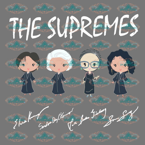 The Supremes Golden Girls Supremes Signatures Shirt Justice Png Digital