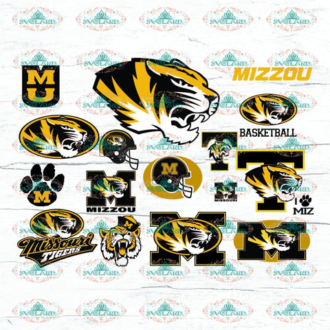 Tigers Mizzou Bundle File Logo Team College Football Shirt American Nfl Ncaa Digital