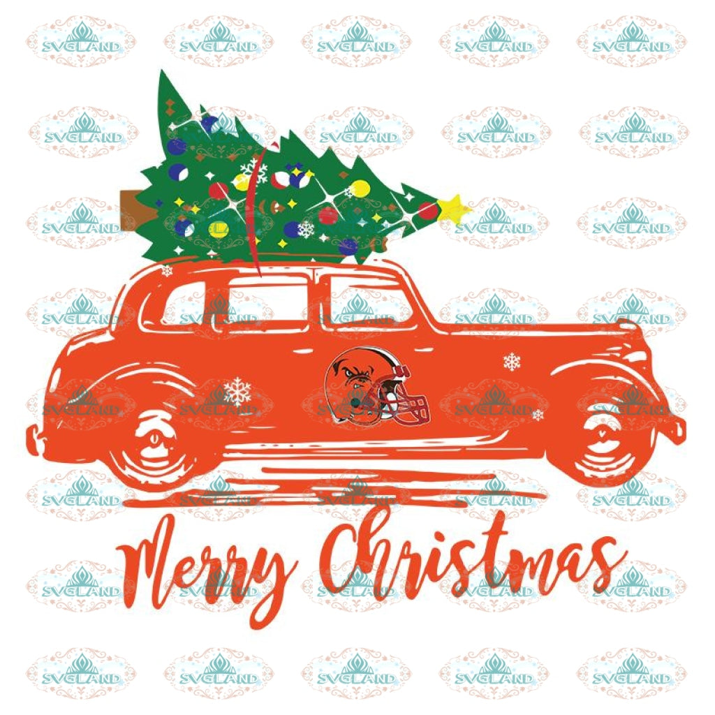 Truck Christmas Browns Svg, NFL Svg, Cricut File, Clipart, Cleveland Browns Svg, Football Svg, Sport Svg, Love Football Svg, Heart Svg, Christmas Svg