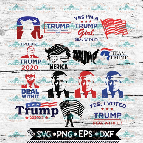 Trump Svg, Make America Great Svg, 4th of july Svg, Bundle, Cricut File, Svg