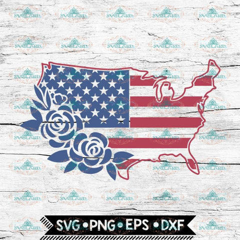 United States svg, American Flag svg, July 4th svg file, 4th of July svg, USA svg, USA flowers