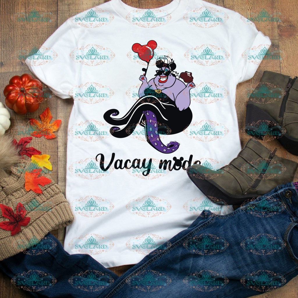 Ursula Svg Vacay Mode Disney Princess Disneyland Digital