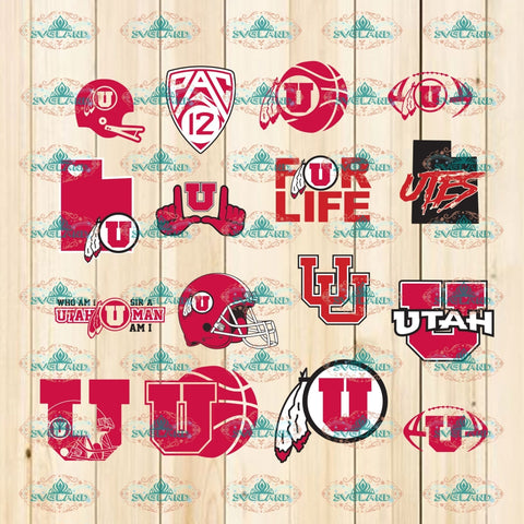 Utah Utes Svg Bundle File Svg University Png Dxf Eps Al Vector Files Silhouette Cameo Cricut Cut
