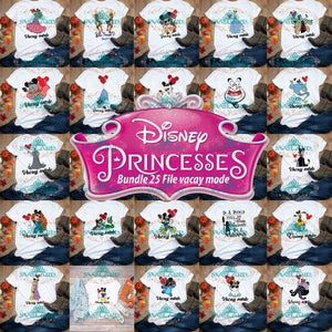 Vacay Mode Bundle File Disney Princess Svg Disneyland Digital
