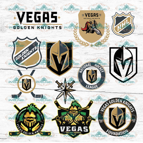 Vegas Golden Knight Bundle File Fan Nhl Svg Bundle Digital