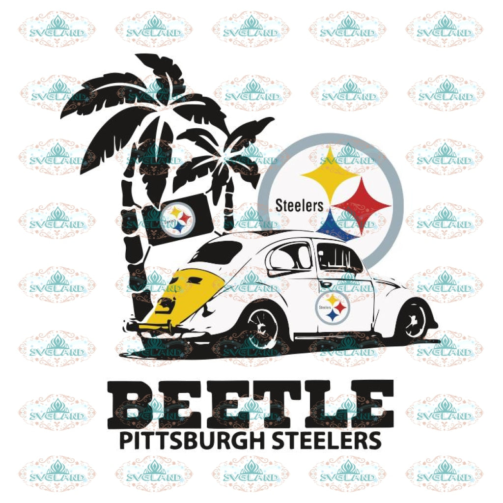 Volkswagen Beetle Pittsburgh Steelers Svg, Cricut File, Clipart, NFL Svg, Football Svg, Sport Svg, Love Football Svg, Png, Eps, Dxf