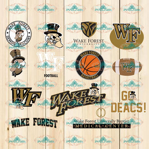 Wake Forest Demon Deacons Bundle File Svg Png Ncaa Dxf Eps Vector Files Sports Lovers Basketball