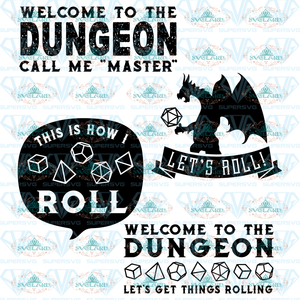 Welcome To The Dungeon Game Svg Cut Files For Crafters Dragon Svg Bundle Files Digital