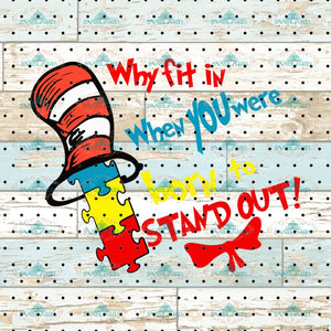 Why Fit In When You Were Born To Stand Out Fishes Svg Dr Seuss Cat On Hat Quotes Digital