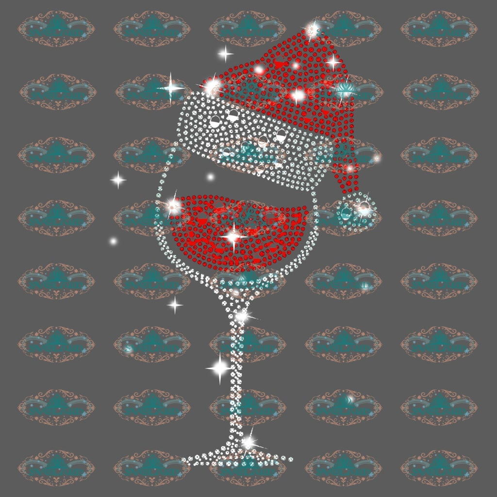 Wine Glasses Christmas Wine Gift Outfit Ornament Png Digital