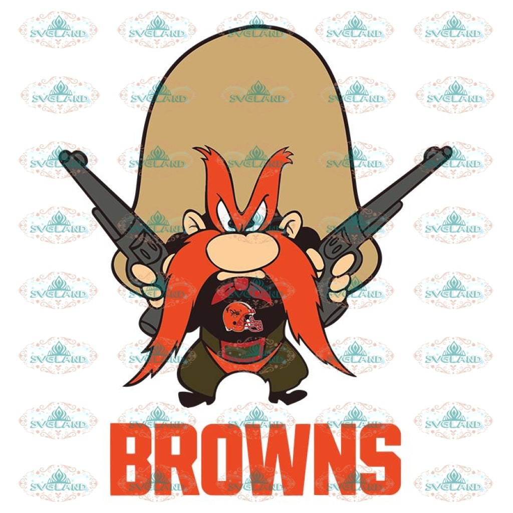 Yosemite Sam Svg, Cricut File, Clipart, Cleveland Browns Svg, Football Svg, Sport Svg, NFL Svg, Love Football Svg, Png, Eps, Dxf