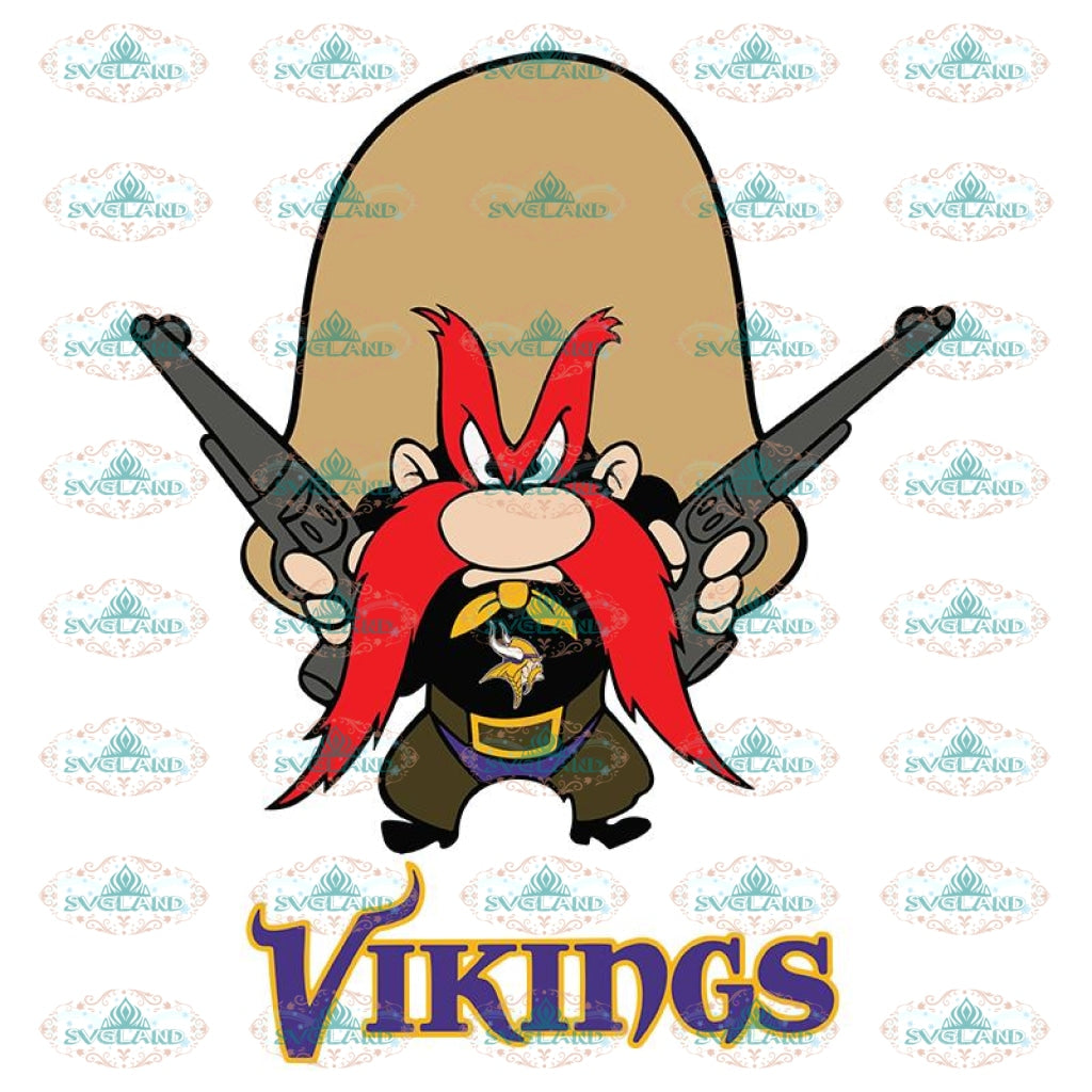 Yosemite Sam Svg, Cricut File, Clipart, Minnesota Vikings Svg, Football Svg, Sport Svg, NFL Svg, Love Football Svg, Png, Eps, Dxf