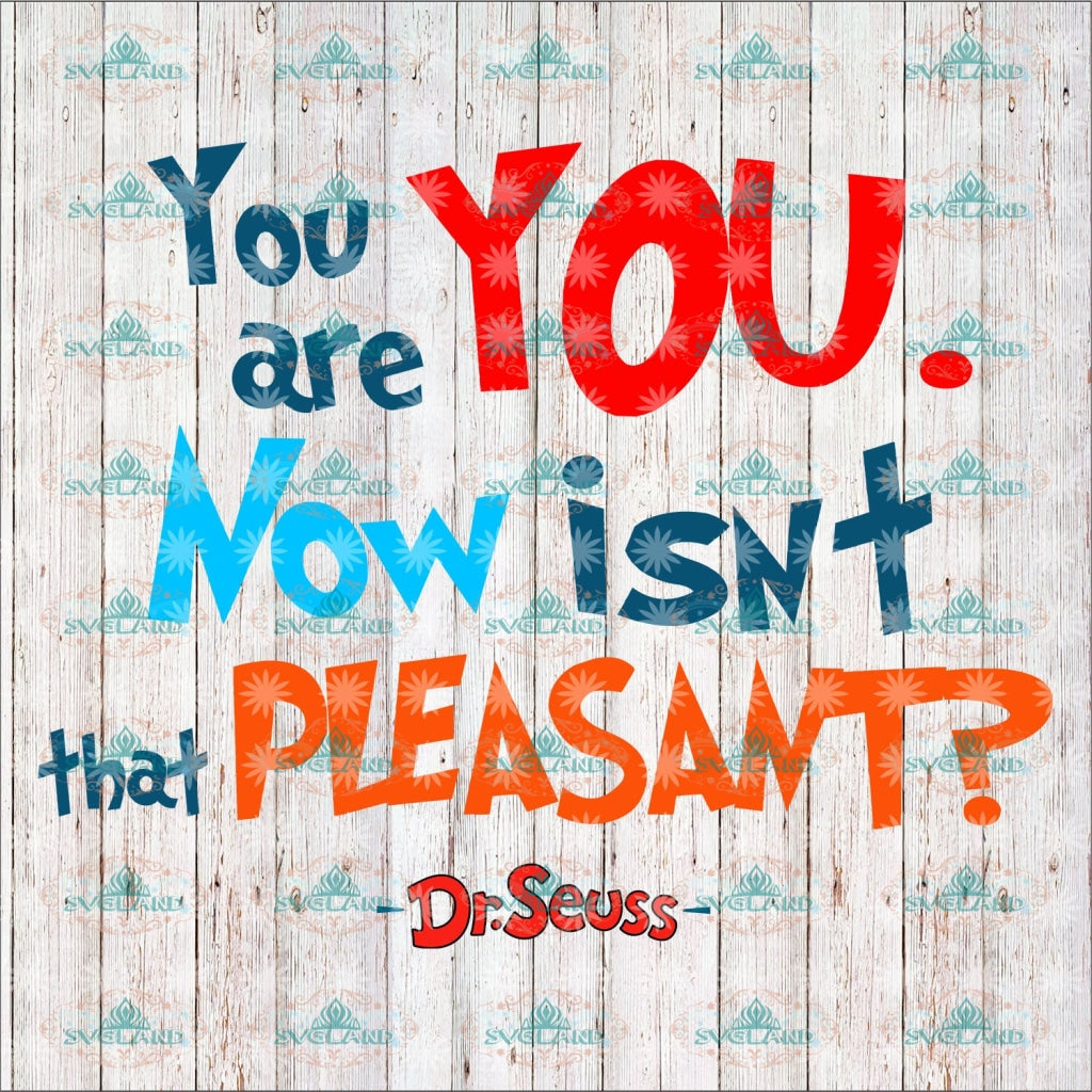 You Are You Now Isnt That Pleasant Dr Seuss Svg Cat On Hat Quotes Digital