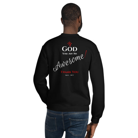 """God You Are So Awesome"" Sweatshirt - Elijah's Mantle Messianic Judaic Christian T-Shirts, Hoodies, Hats - Apparel"