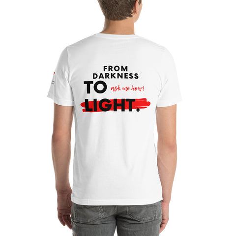 """YHWH - From Darkness to Light"" Short-Sleeve T-Shirt - Elijah's Mantle Messianic Judaic Christian T-Shirts, Hoodies, Hats - Apparel"