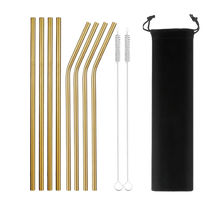 Load image into Gallery viewer, Eco-Friendly Reusable Straws - 8 Piece