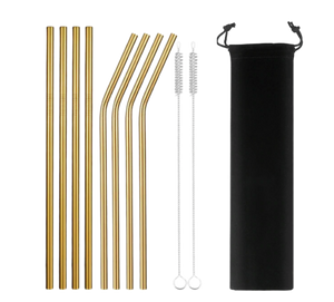 Eco-Friendly Reusable Straws - 8 Piece