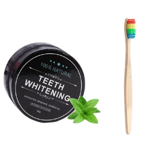 Load image into Gallery viewer, Organic Charcoal Activated Teeth Whitening Powder