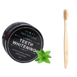 Organic Charcoal Activated Teeth Whitening Powder