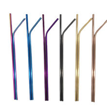 Load image into Gallery viewer, Eco-Friendly Reusable Straws - 2 Piece