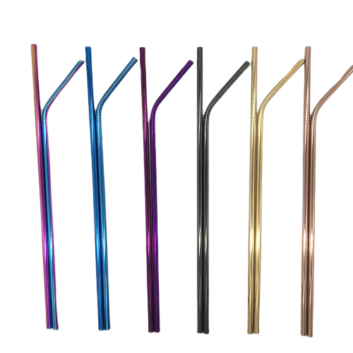 Eco-Friendly Reusable Straws - 2 Piece