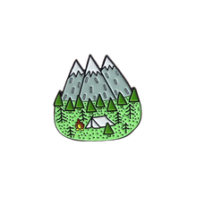 Load image into Gallery viewer, Mountain Camping Pin