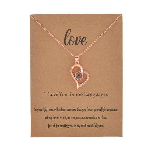 100 Language I love You Necklace